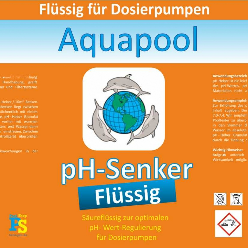 ph minus fl ssig ist zum senken des ph wert im schwimmbadwasser pool shop solingen. Black Bedroom Furniture Sets. Home Design Ideas